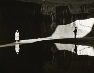 O'Keefe and Eastborn Smith in Twilight Canyon, Lake Powell, 1964, by Todd Webb