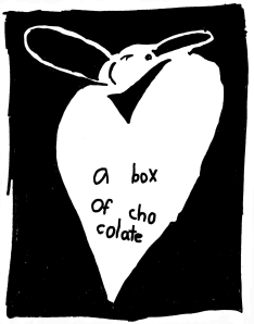 a box of chocolate