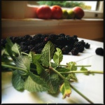 mint and blackberries