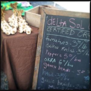 garlic on the menu board