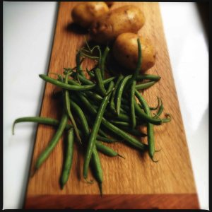 Yukon Golds and green beans july 2014