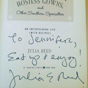 Julia Reed book signing