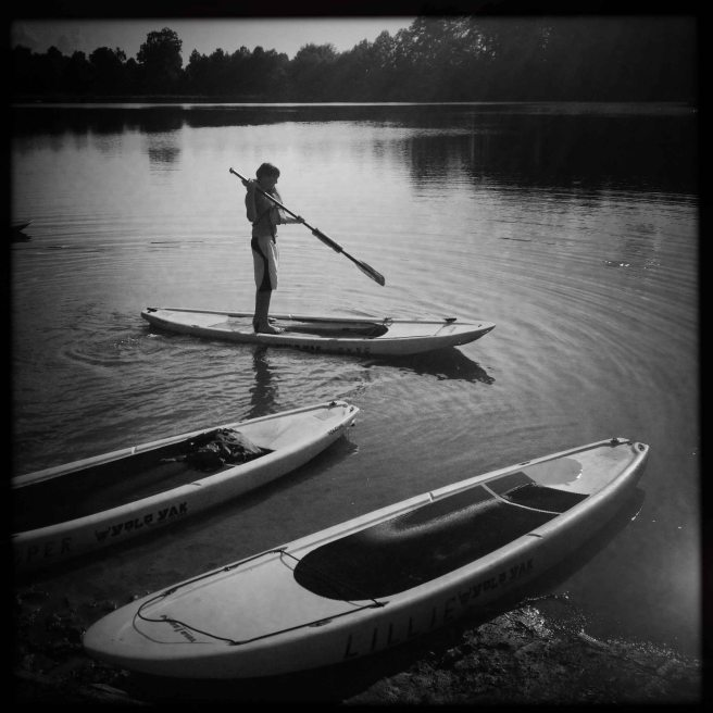 boy on a paddle board september 2014