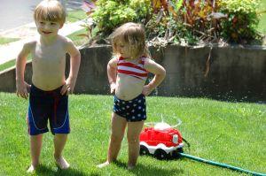the red sprinkler