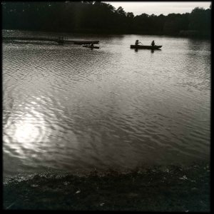canoe on the lake 2015