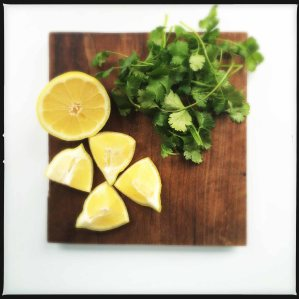lemon and cilantro