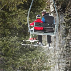 Father son ski lift, 2009