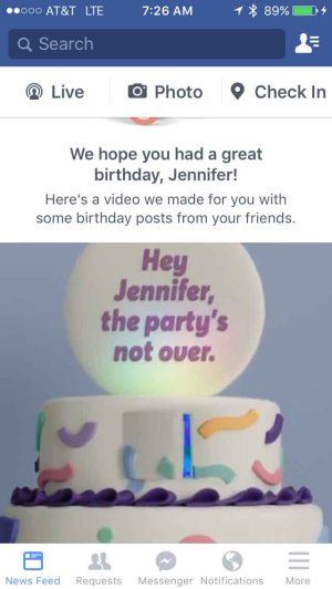 FB birthday message