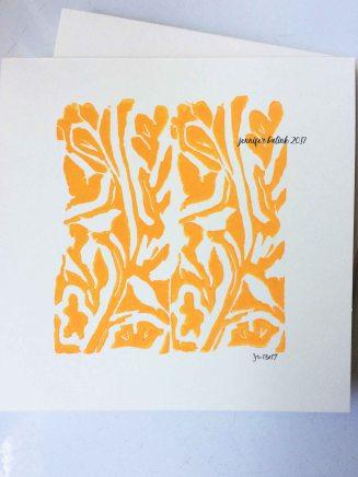Orange birds in the bush