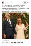 Anne Lamott wedding tweet