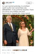 Anne Lamott wedding tweet
