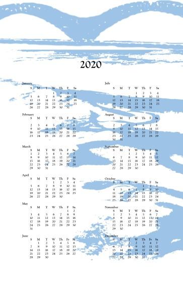 2020 wall calendar - M bridge